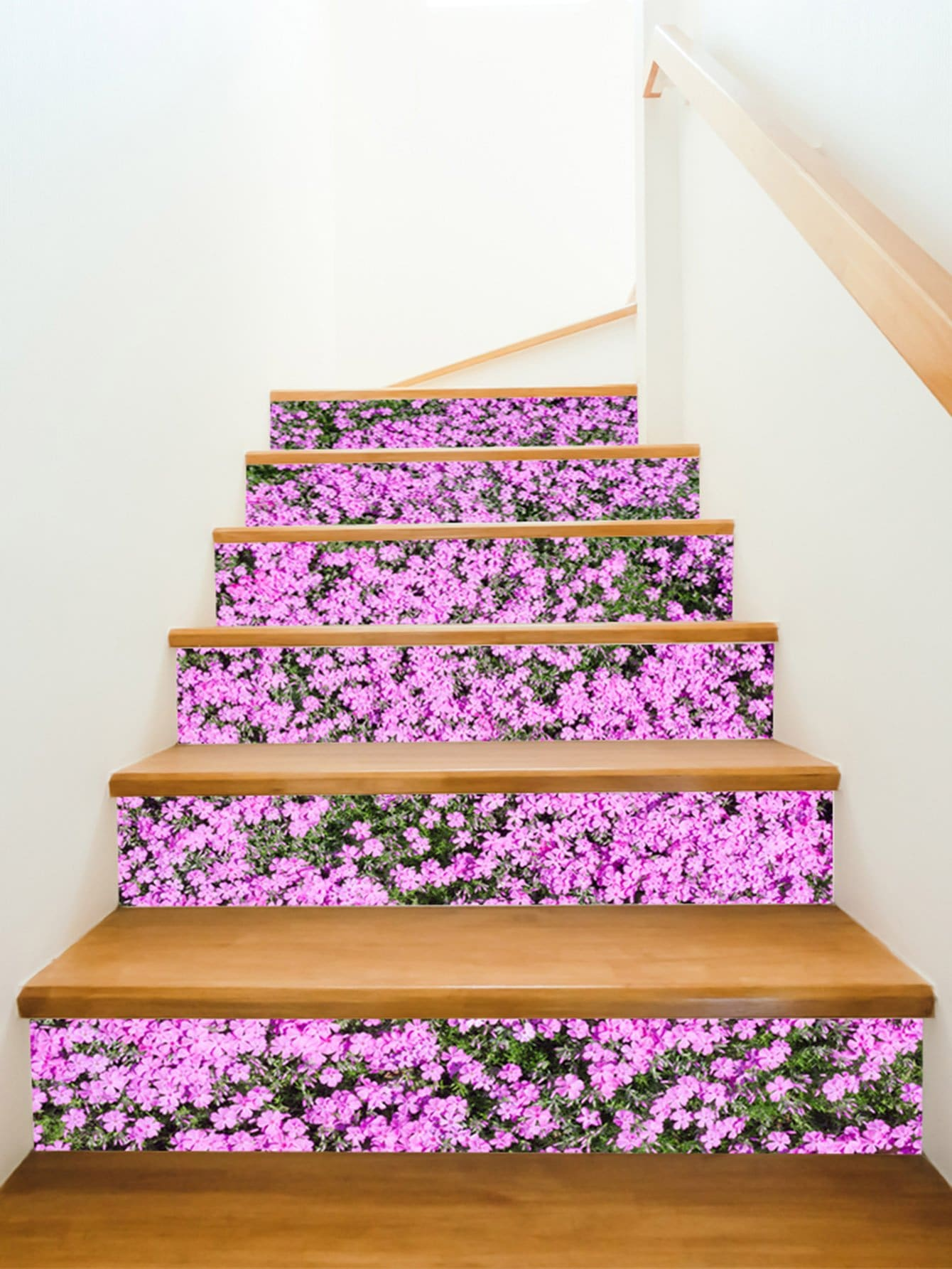 Calico Pattern Stairs Sticker 6pcs sea wave stairs sticker 6pcs