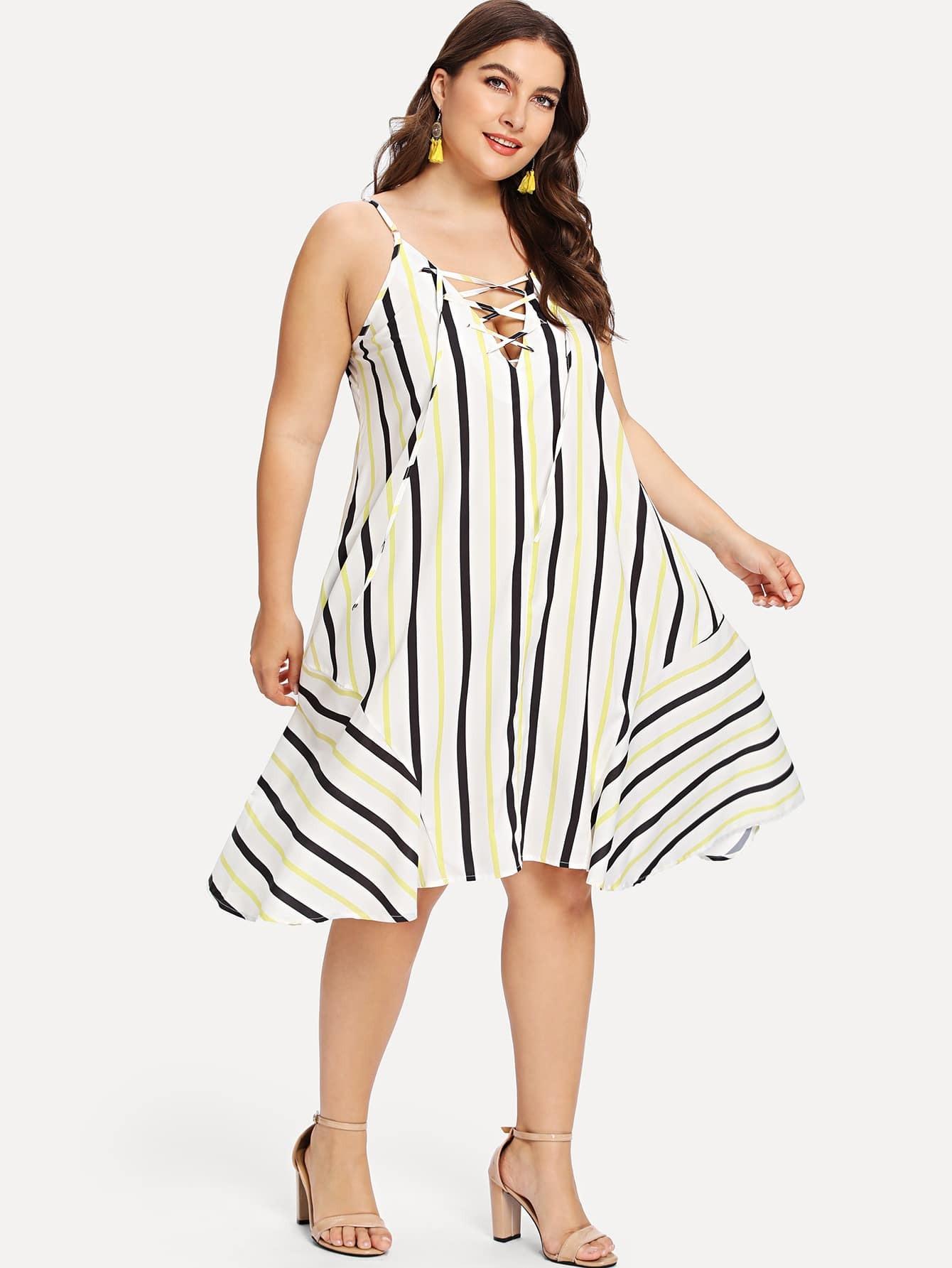 Платье со шнурком, Franziska, SheIn  - купить со скидкой
