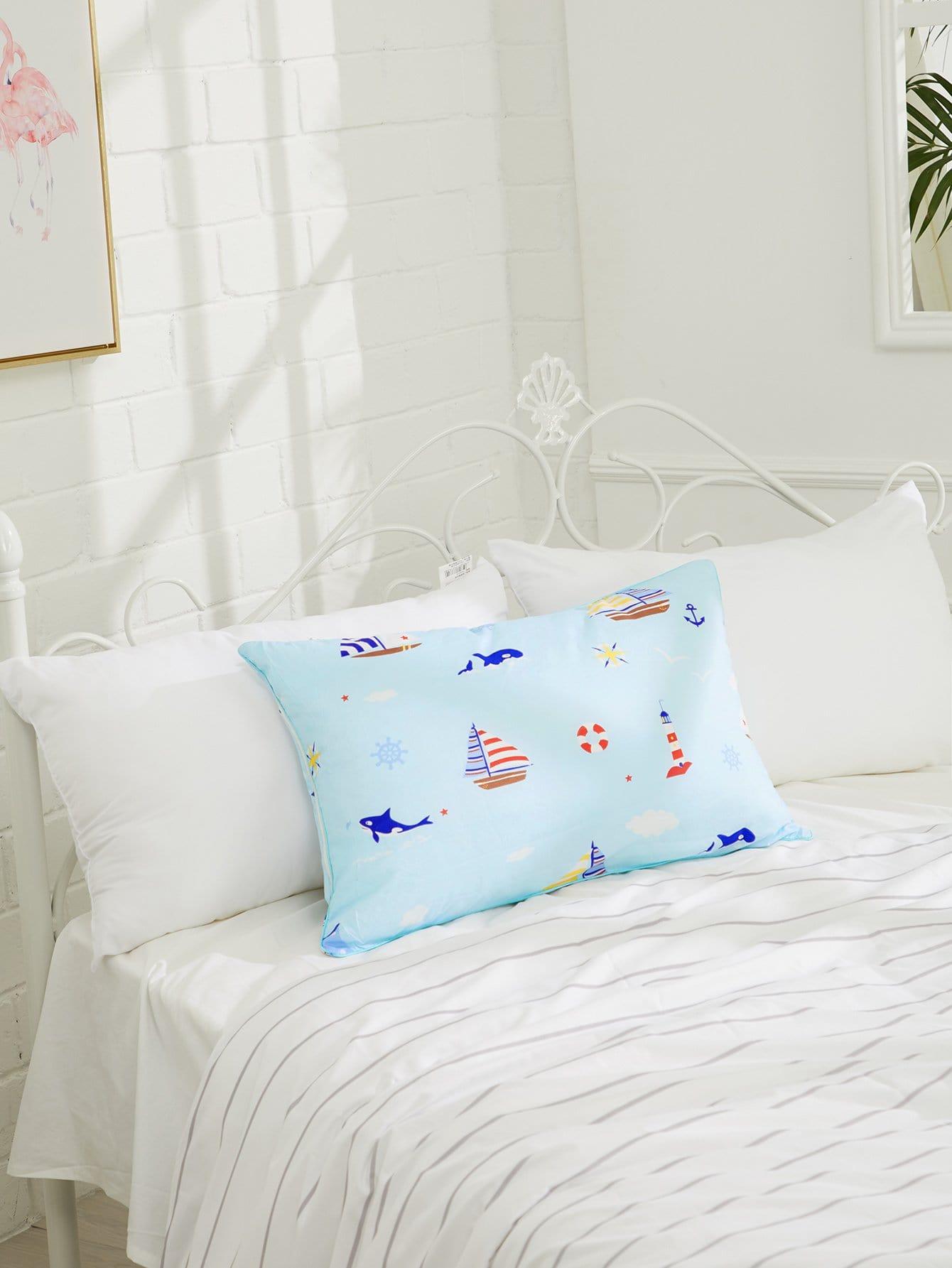 Sailboat Print Pillow 1pc sailboat print pillow 1pc