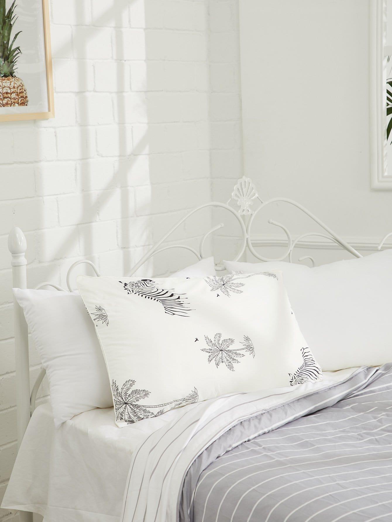 Zebra & Palm Tree Print Pillow 1pc sailboat print pillow 1pc