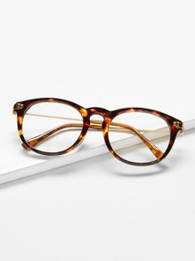 Leopard Frame Retro Glasses