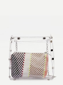 Clear Chain Bag With Inner Clutch