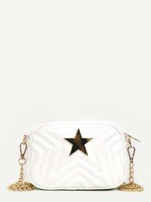 Metal Star Detail Chain Bag