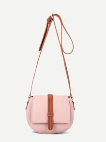 Flap Saddle PU Shoulder Bag