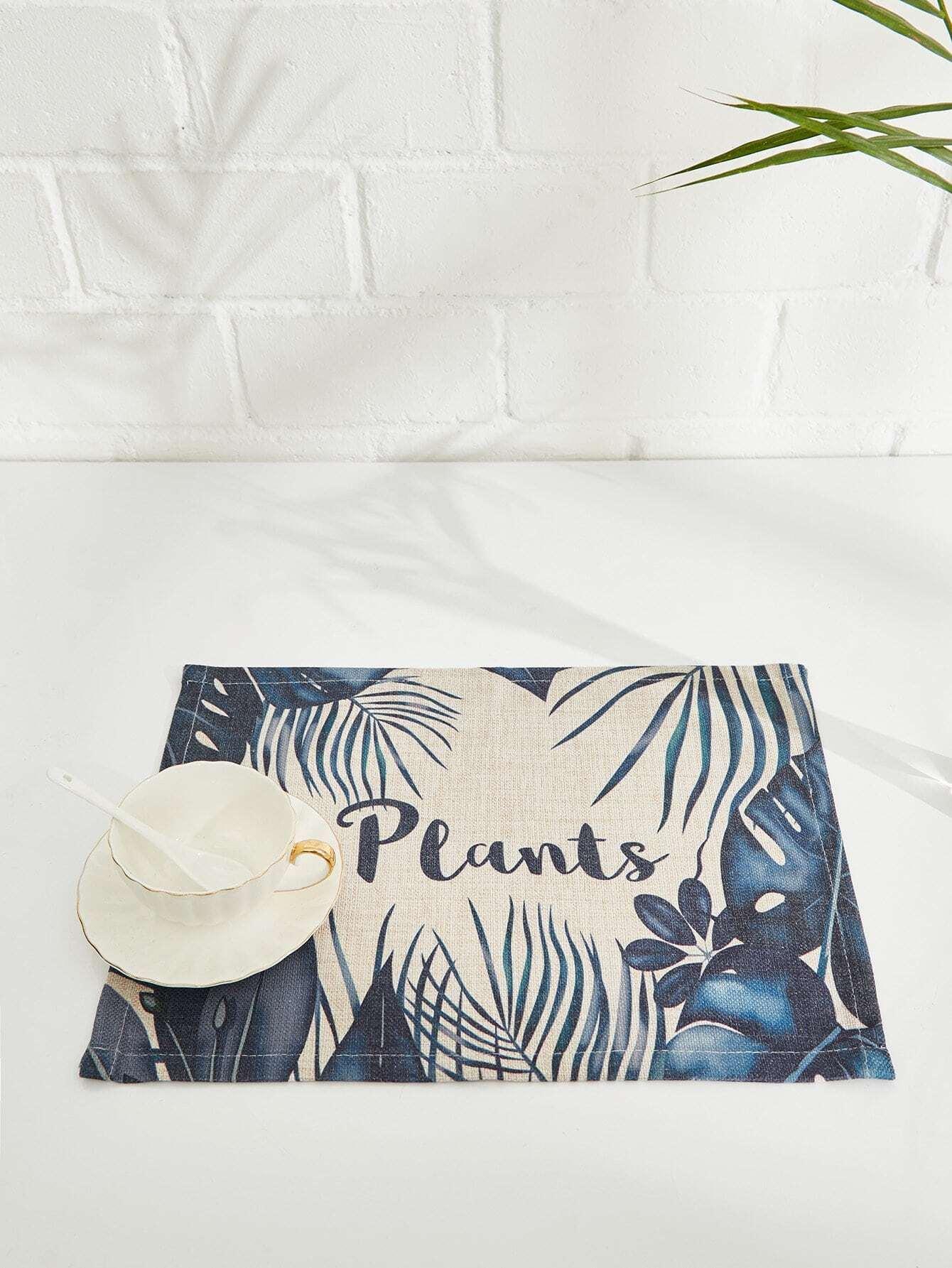 Tropical Print Linen Placement flamingo linen placement