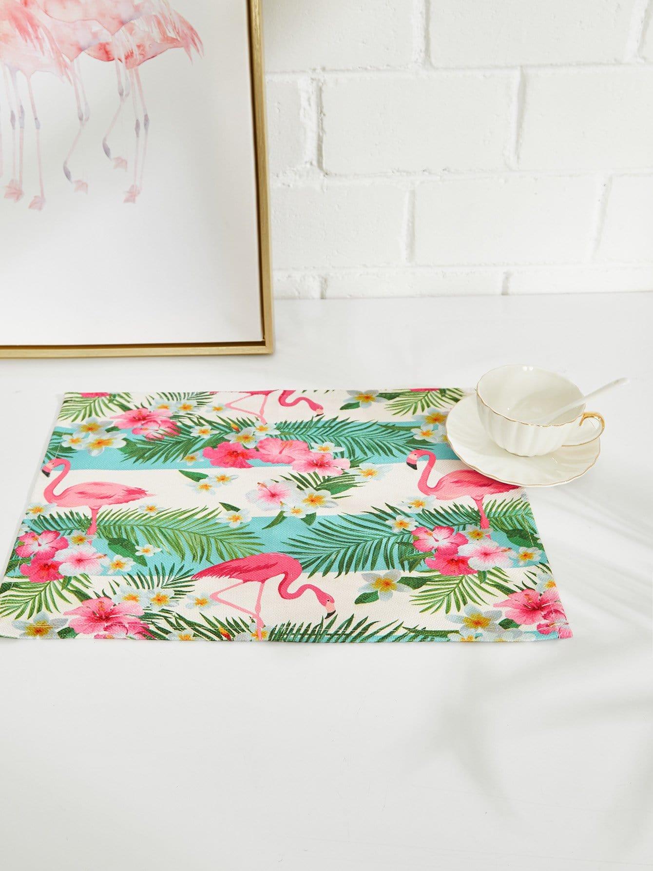 Tropical & Flamingo Placement flamingo linen placement