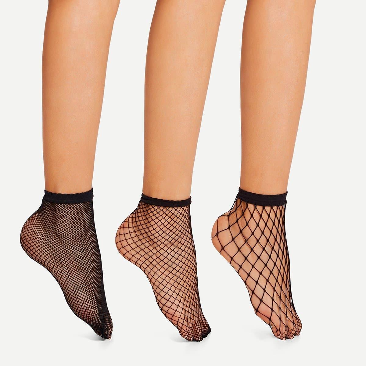 Visnet sokken - 3 paar
