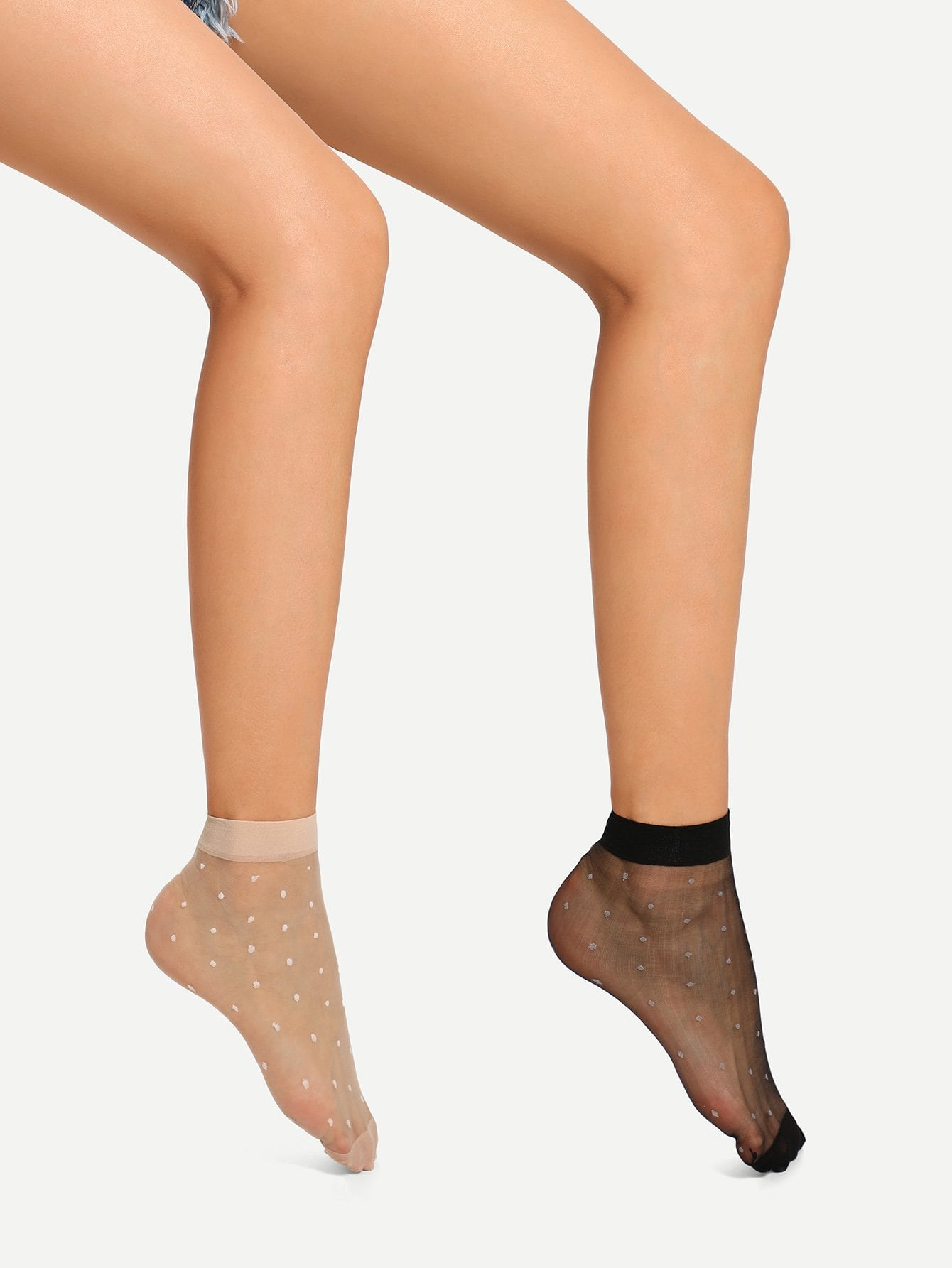 Dot Mesh Socks 2pairs
