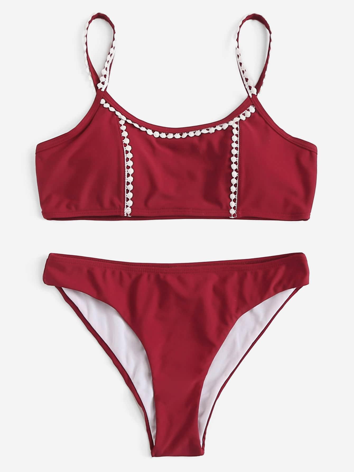 Купить Вязание крючком Trim Bikini Set, null, SheIn