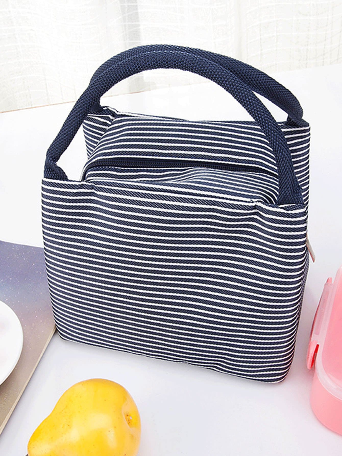 Striped Tote Lunch Bag striped tote lunch bag