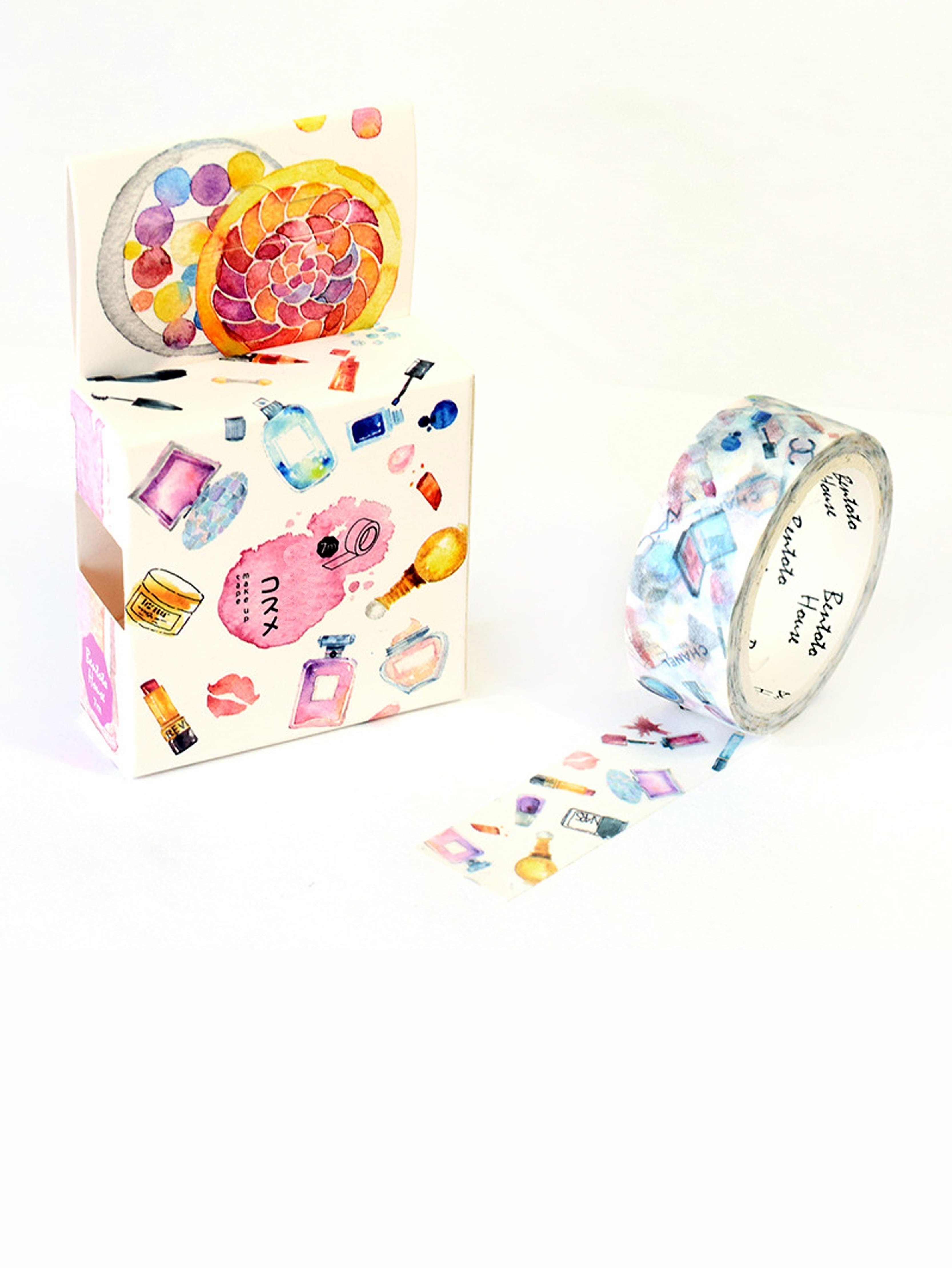 Makeup Tools Pattern Masking Tape 1 x golden slim decoration 8 mm x 7 m kawaii washi tape children diy diary decoration masking tape stationery scrapbooking tools