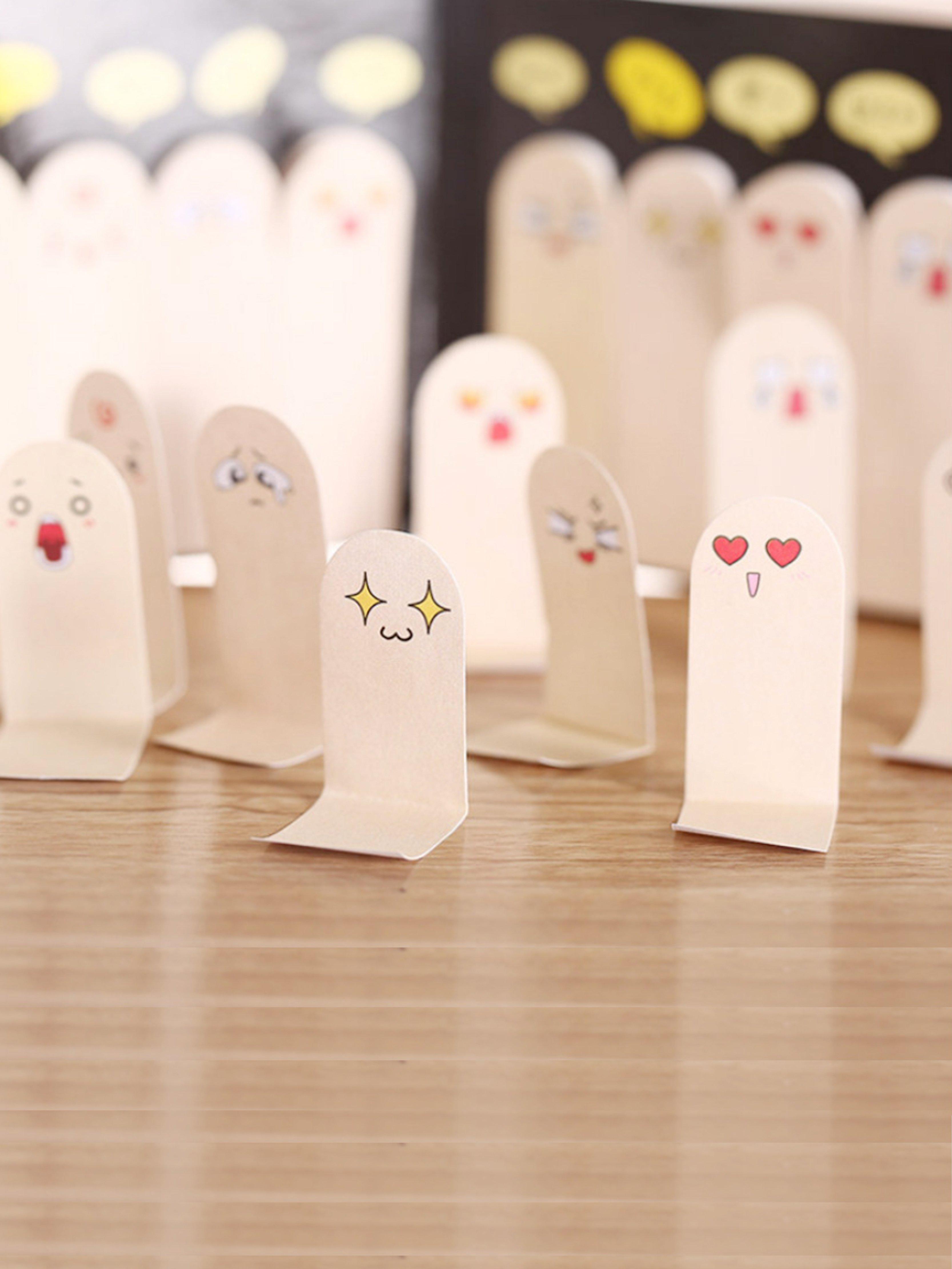 Cartoon Emoji Sticky Memo Pads 200sheets 1pc lot cute rabbit design memo pad office accessories memos sticky notes school stationery post it supplies tt 2766