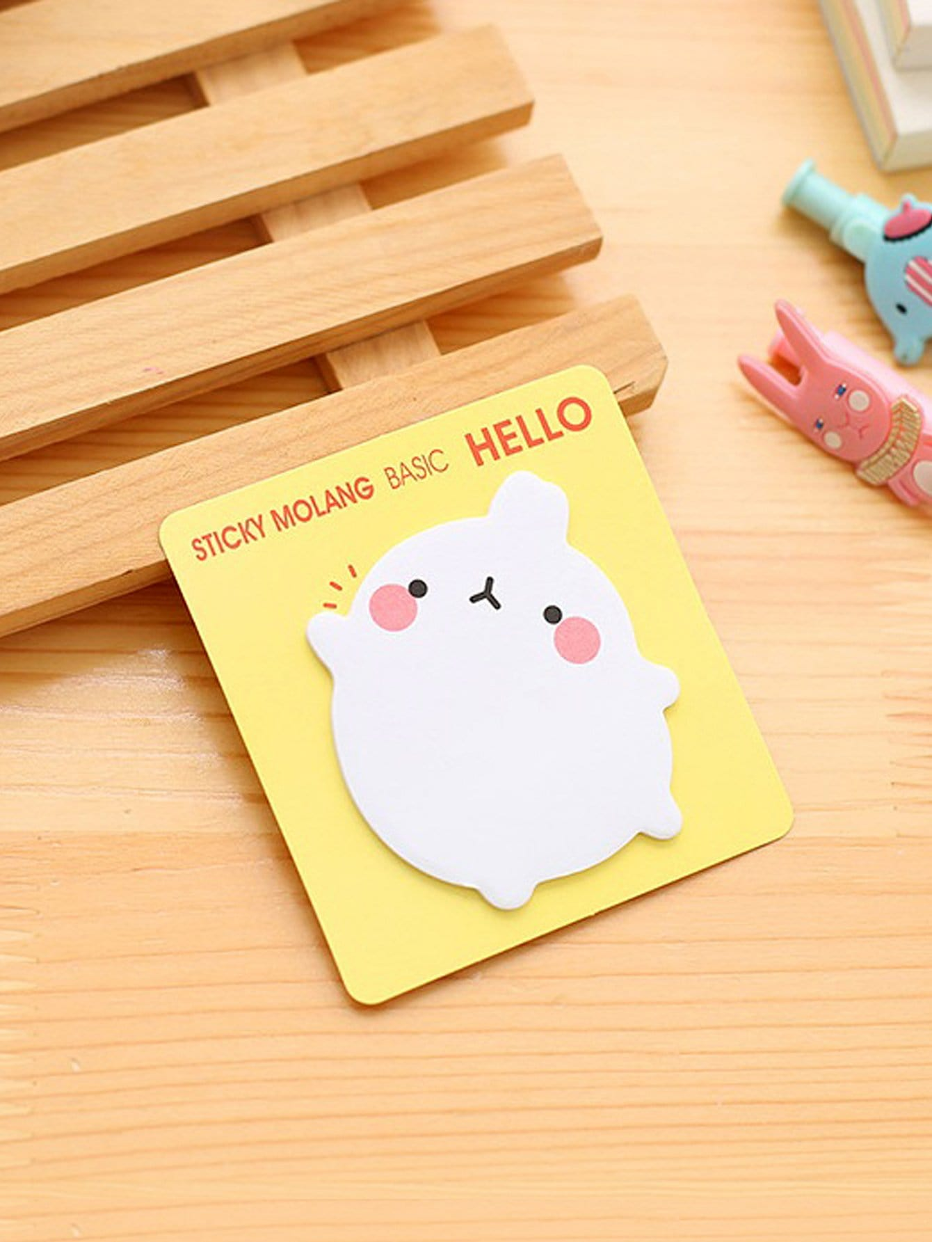 Cartoon Animal Sticky Memo 20sheets 2x animal cat panda cute kawaii sticky notes post it memo pad school supplies planner stickers paper bookmarks korean stationery