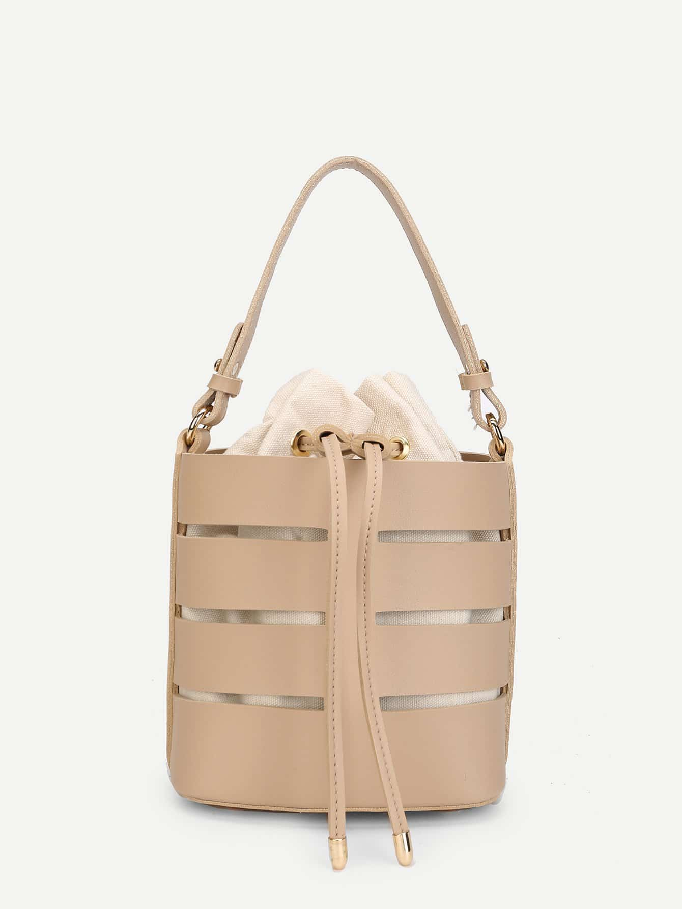 Bucket Bag With Inner Pouch bucket bag with drawstring inner pouch