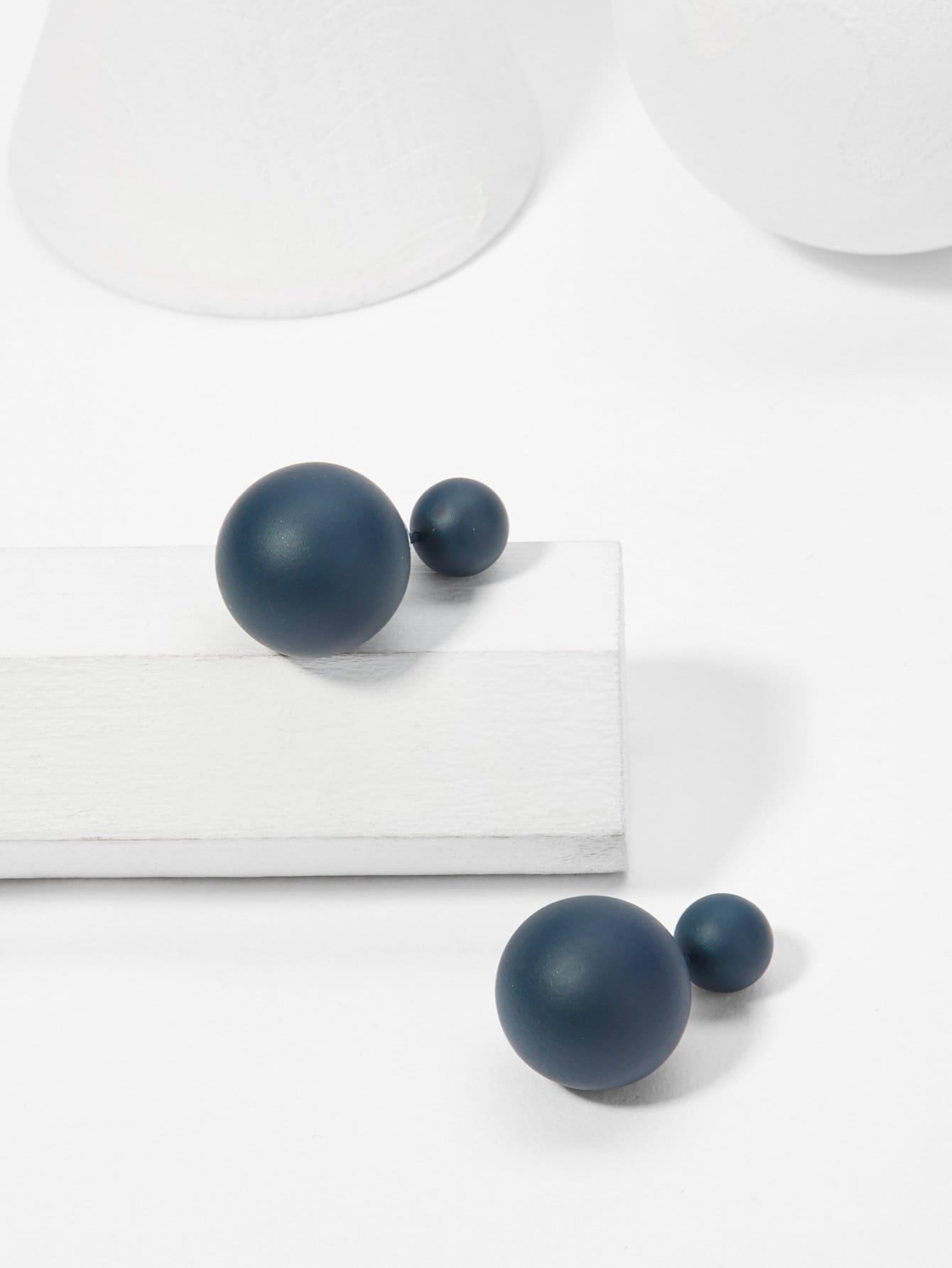 Серьги с двойным шариком от SheIn