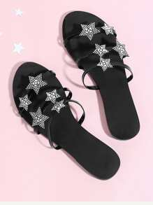 Star Decorated Flat Sandals