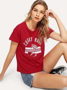 Distressed Print T-shirt