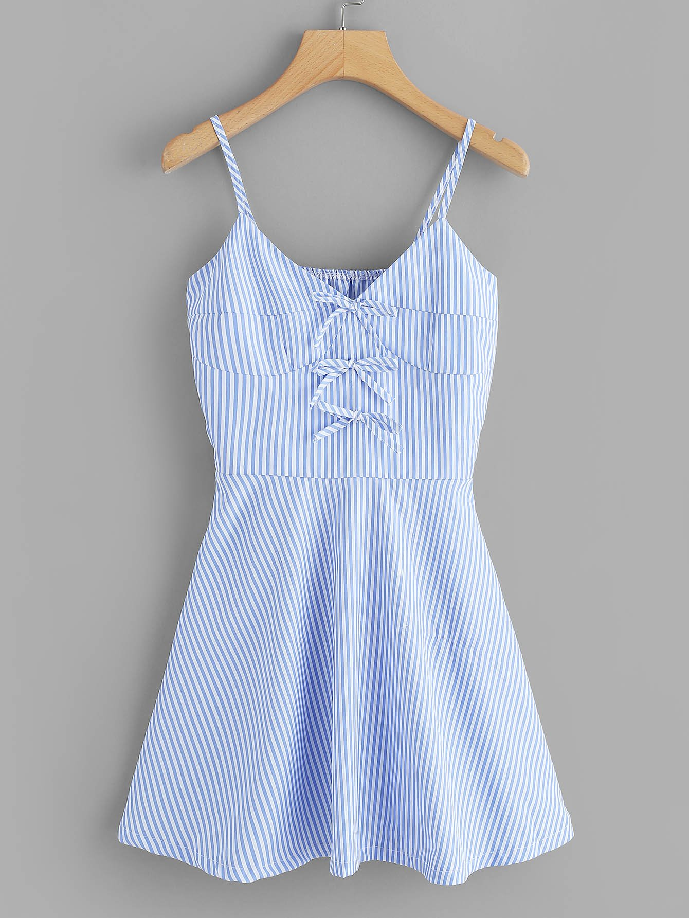 Knot Detail Striped Cami Dress