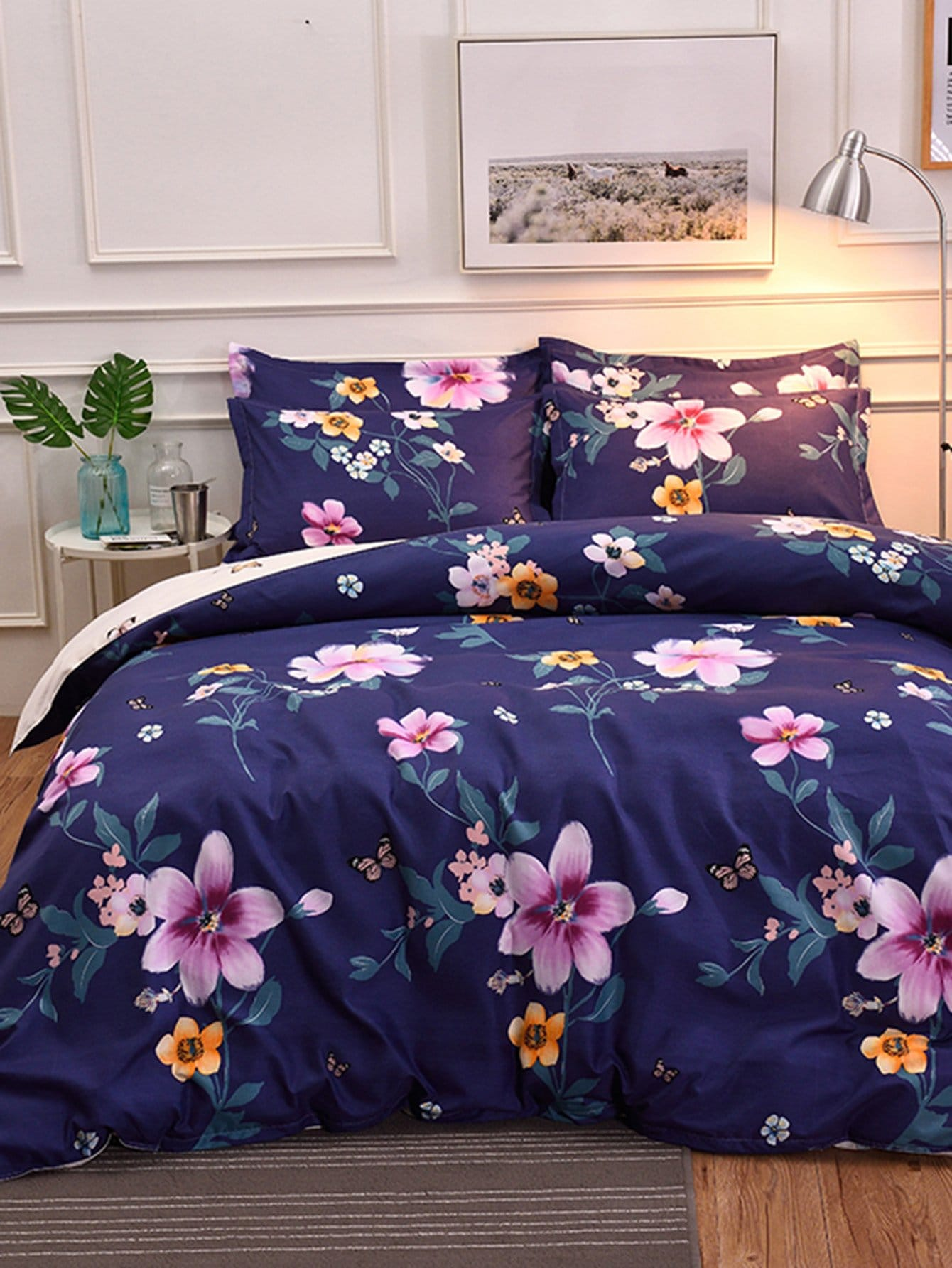 Allover Flower Print Sheet Set allover star print sheet set