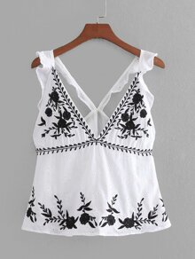 Eyelet Embroidered Embroidery Top