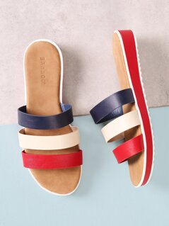 Three Strap Slide Sandal