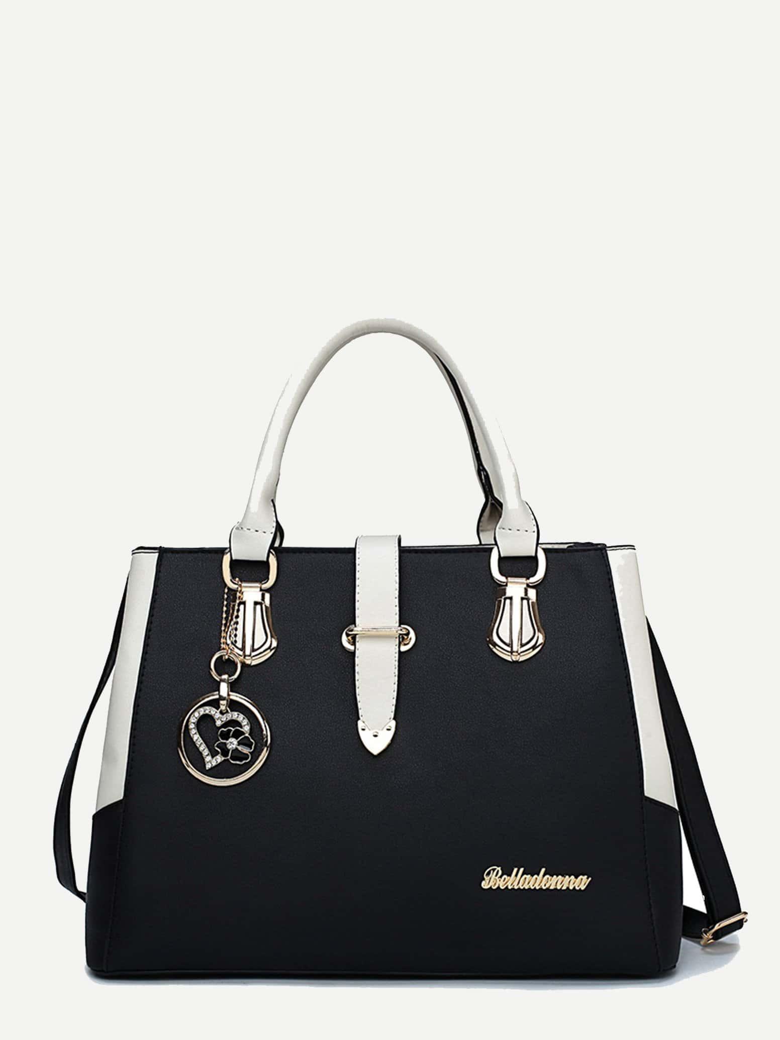 Tote Bag With Round Charm tote bag with round charm