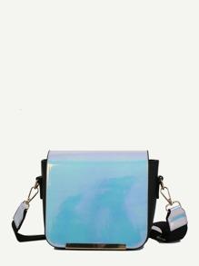 Metal Detail Flap Shoulder Bag