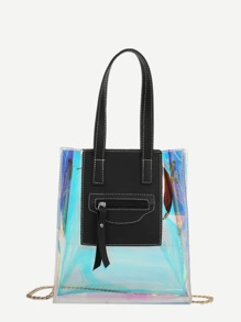 Iridescence Detail Chain Bag