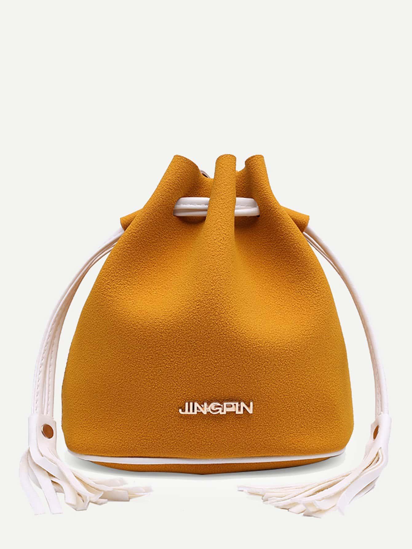 Tassel Detail Bucket Bag tassel detail bucket bag