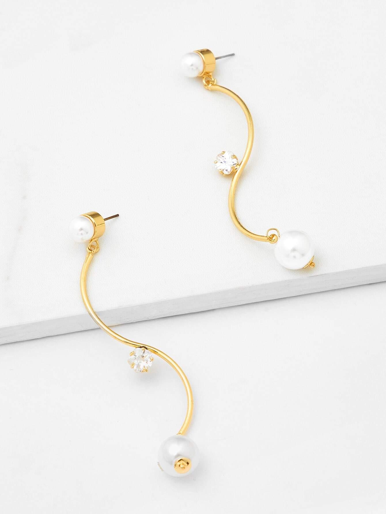 S Shaped Drop Earrings scissors shaped drop hook earrings
