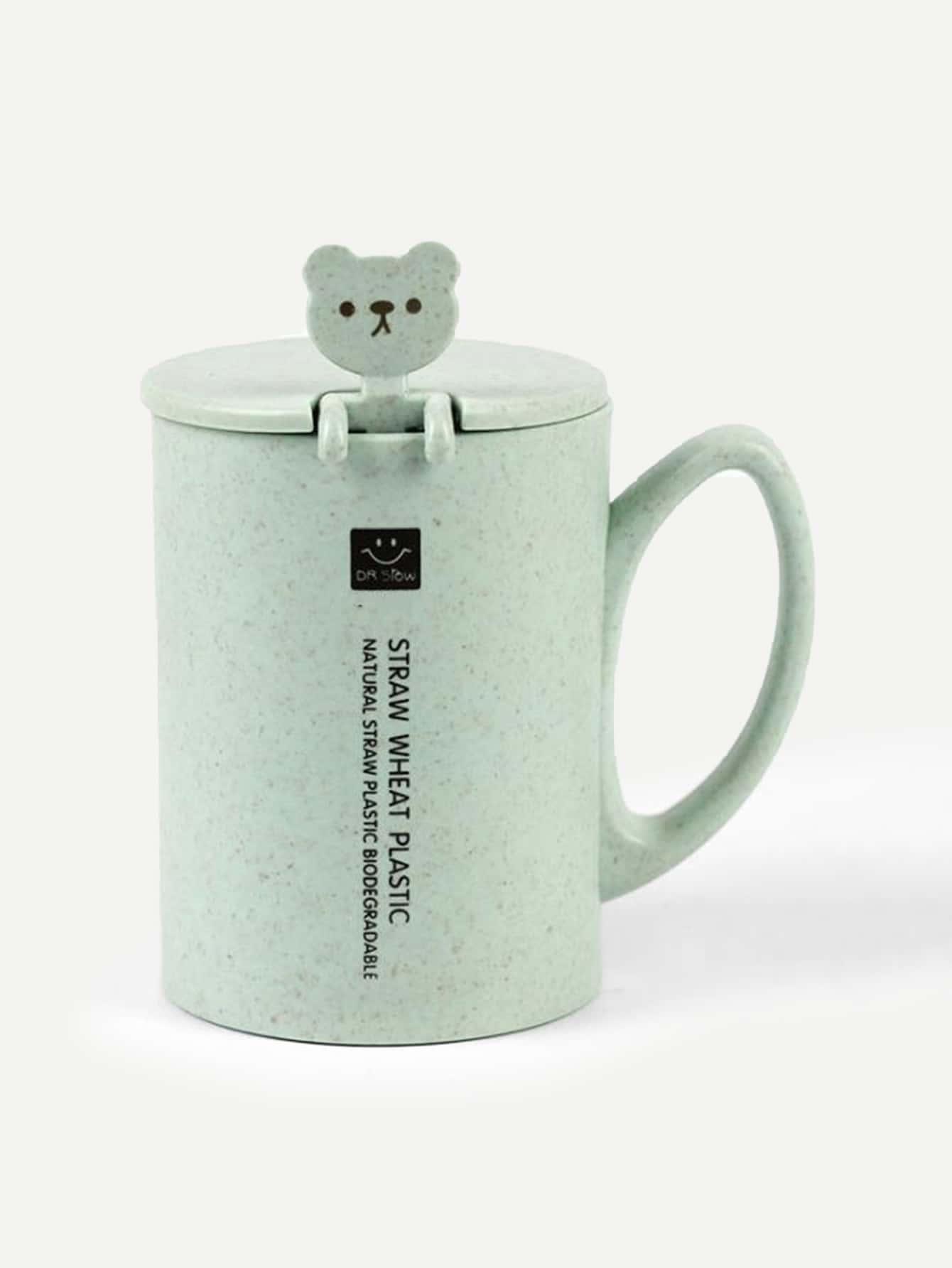 Mug Cup & Lid & Spoon free shipping double station mug press heat press machine mug cup sublimation transfer printing