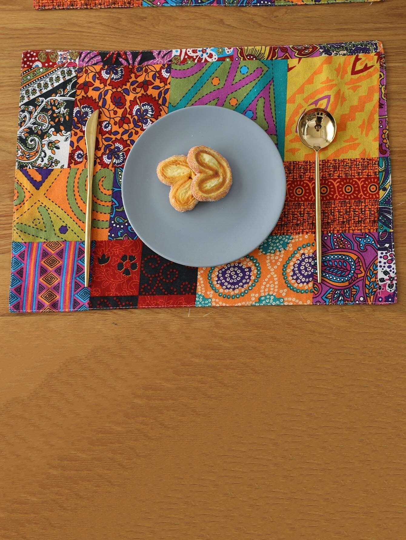 Mixed Print Placemat palm print placemat