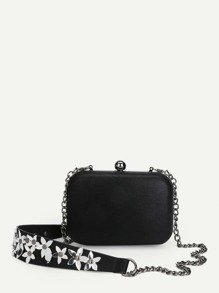 Flower Detail Chain Bag
