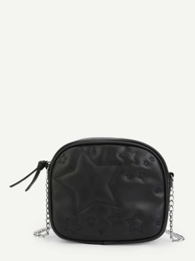 Star Pattern Chain Crossbody Bag