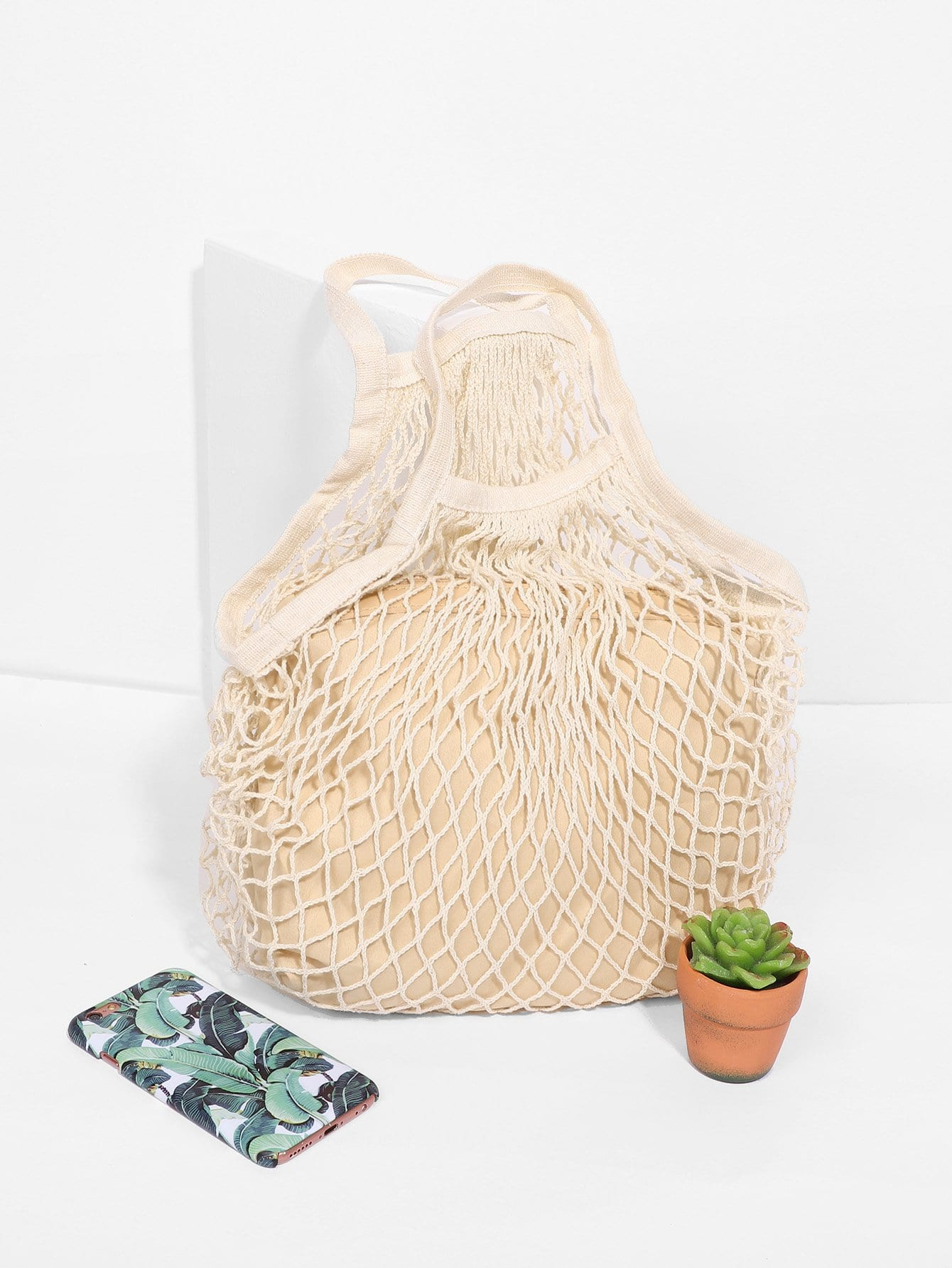 Net Tote Bag With Inner Pouch net tote bag with inner pouch