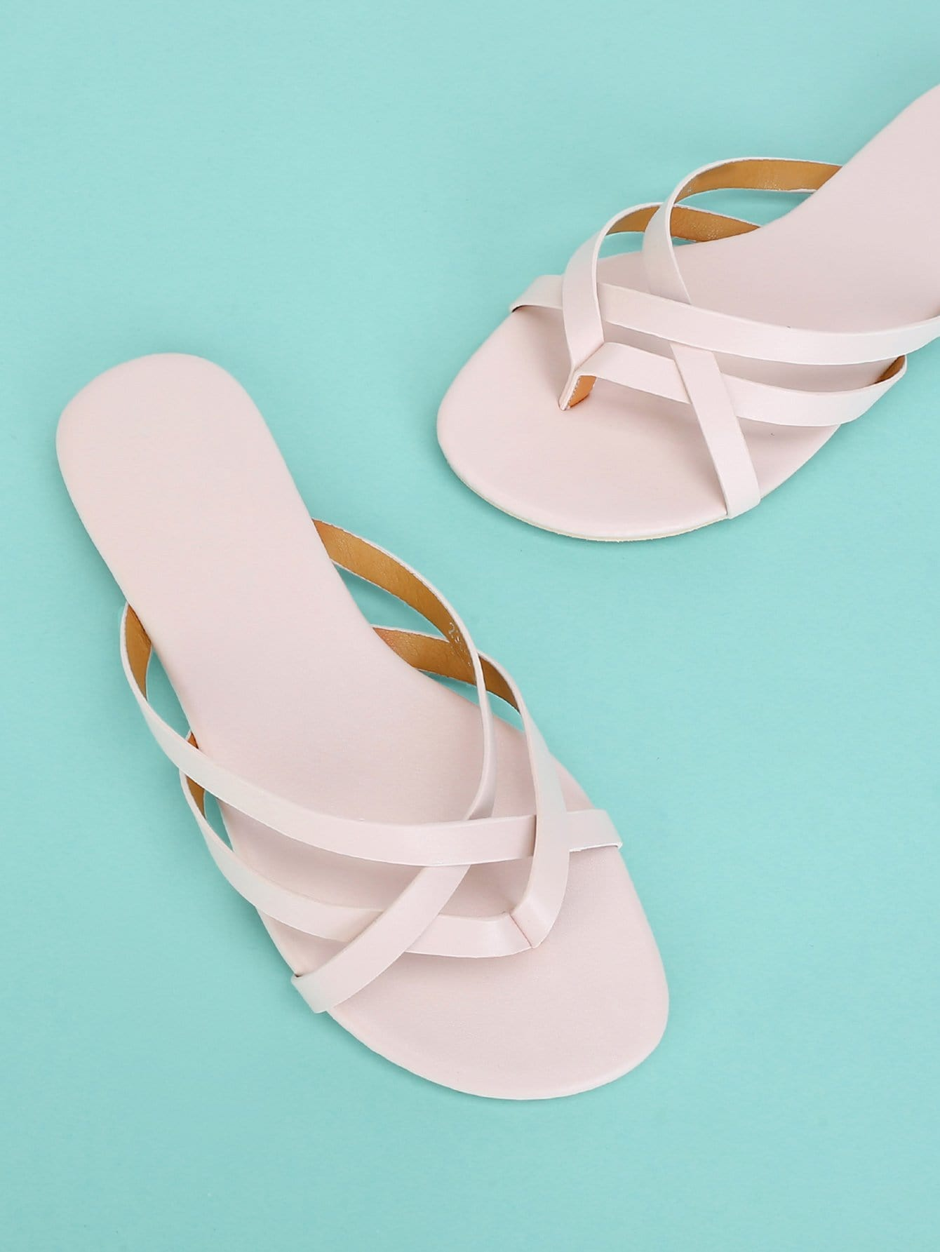 Strappy Toe Post Flat Sandals strappy toe post flat sandals