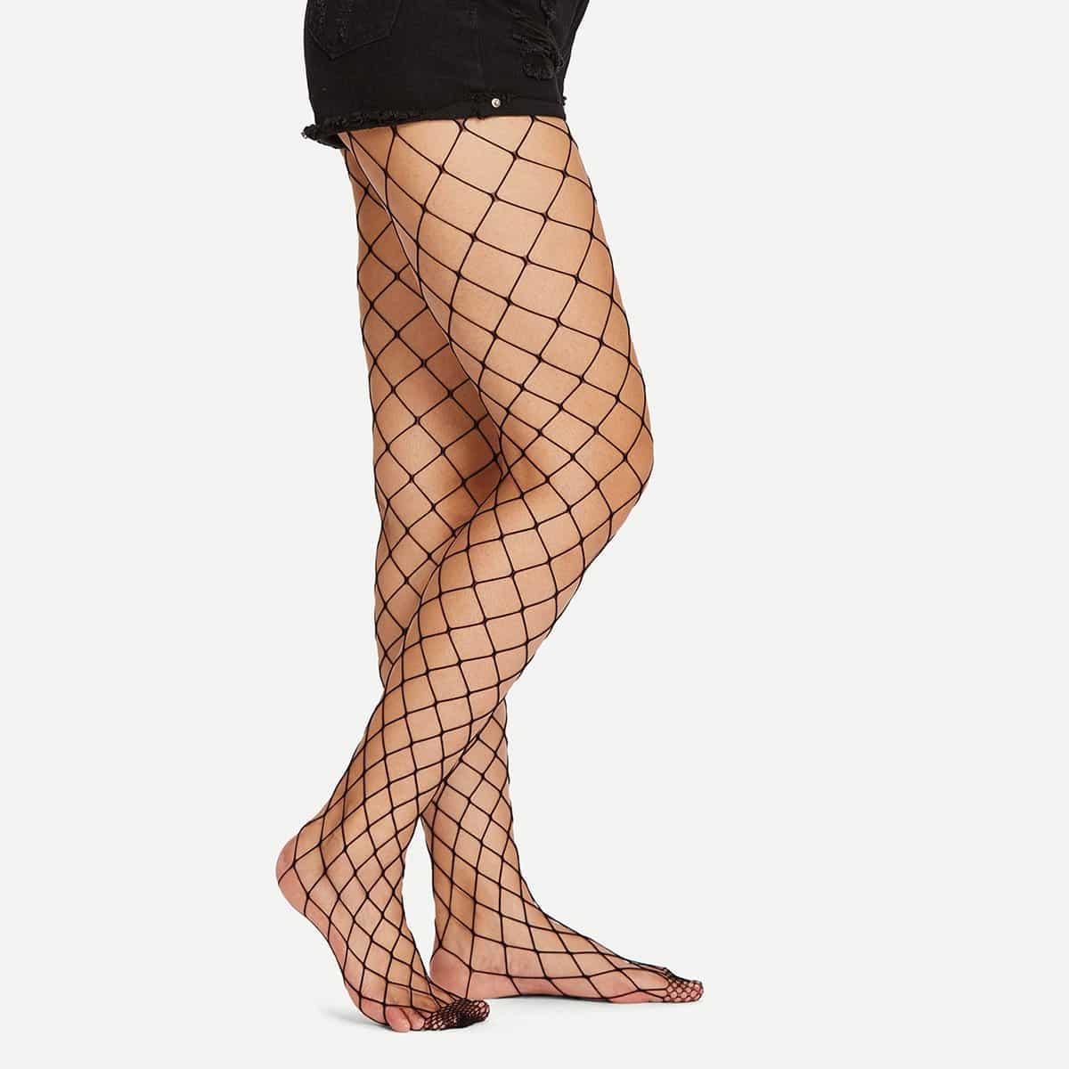 Net Design Panty kousen