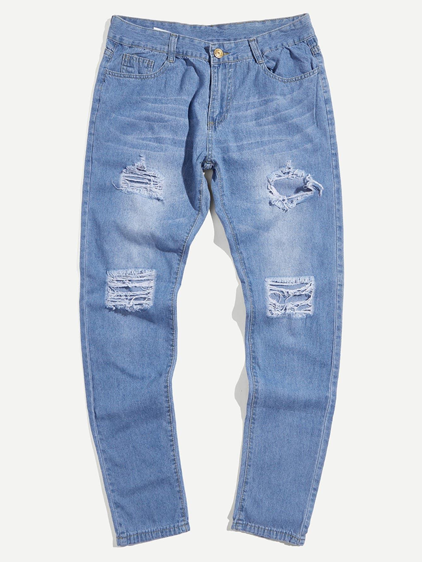 Men Skinny Destroyed Jeans destroyed skinny jeans