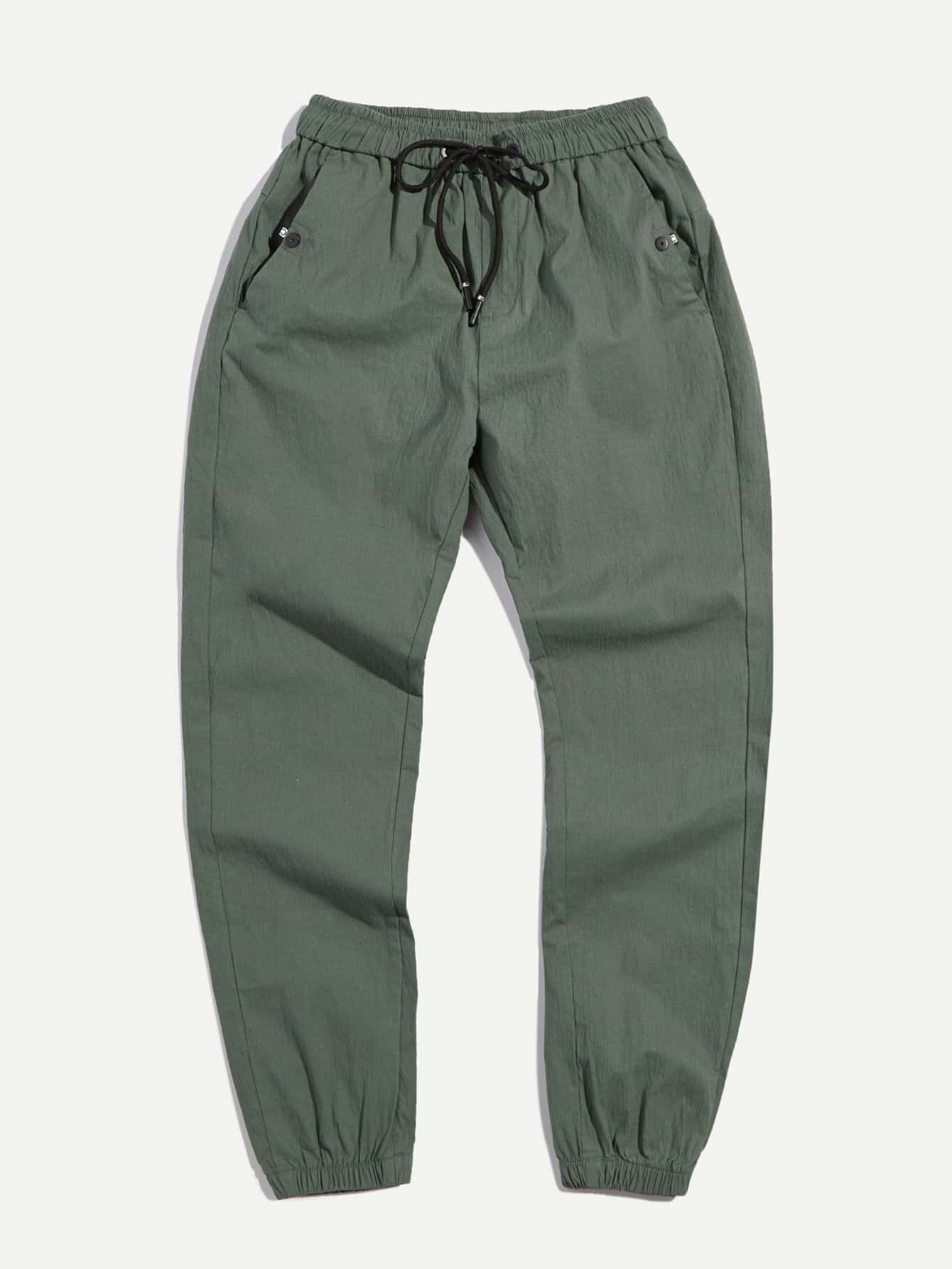 Men Elastic Foot Drawstring Pants men elastic foot drawstring jeans