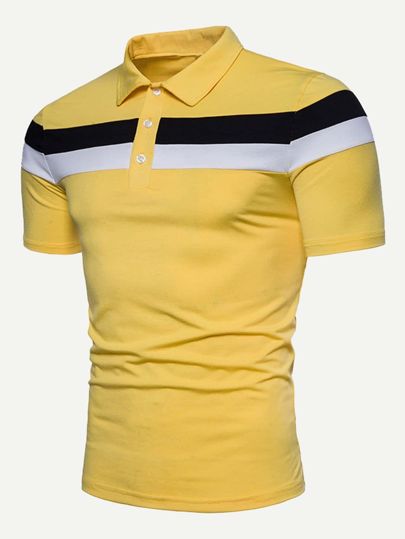 Мужчины Университетский Полосатый Рубашки Поло