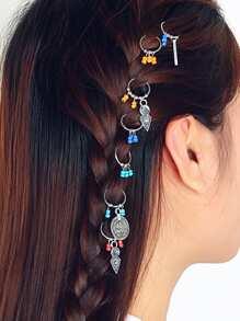 Beaded Hair Ring 7pcs