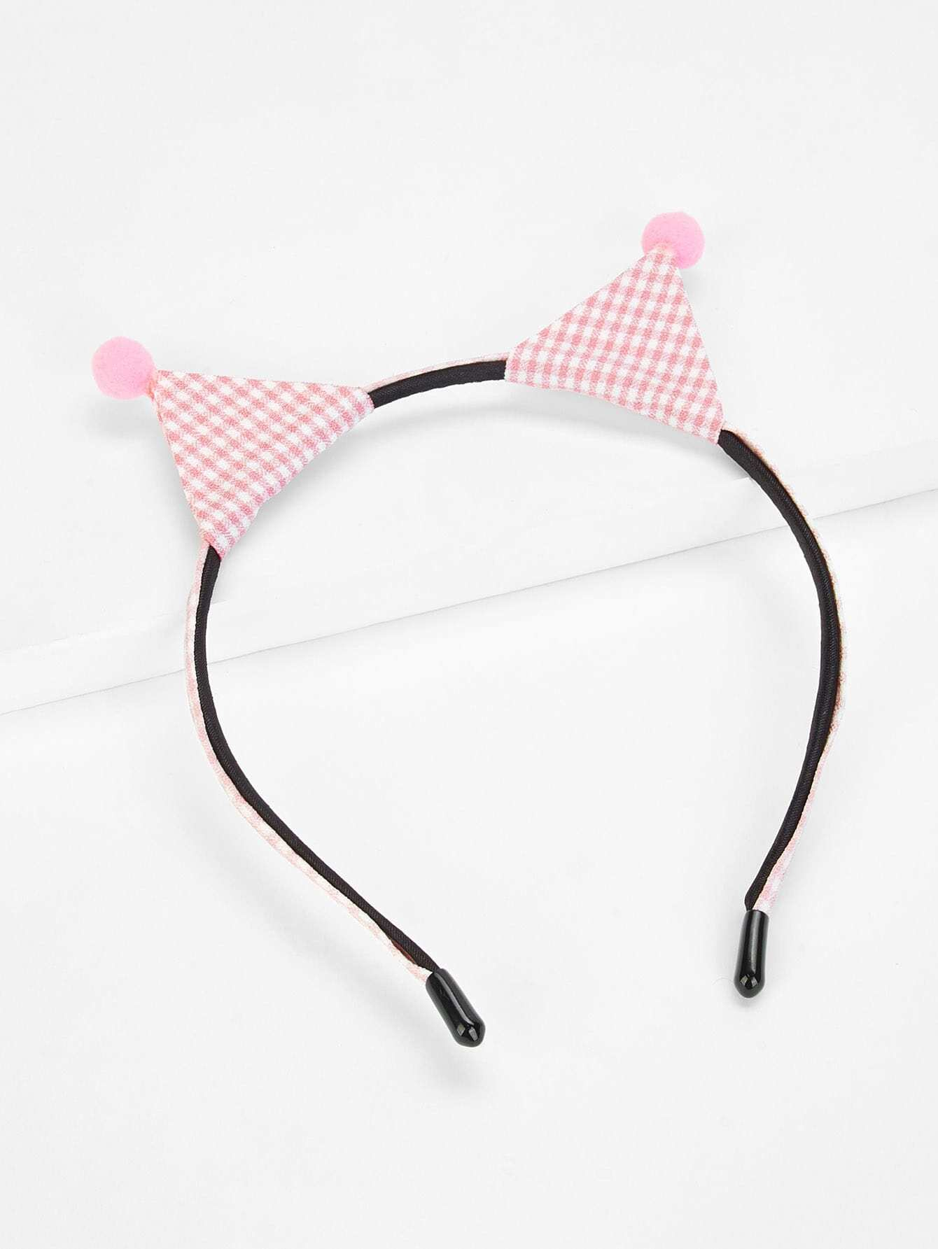 Stripe Print Ear Design Kids Headband