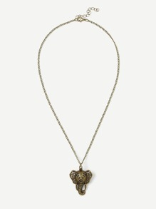 Magnetic Buckle Elephant Pendant Chain Necklace