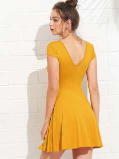 Open Back Fit & Flared Dress