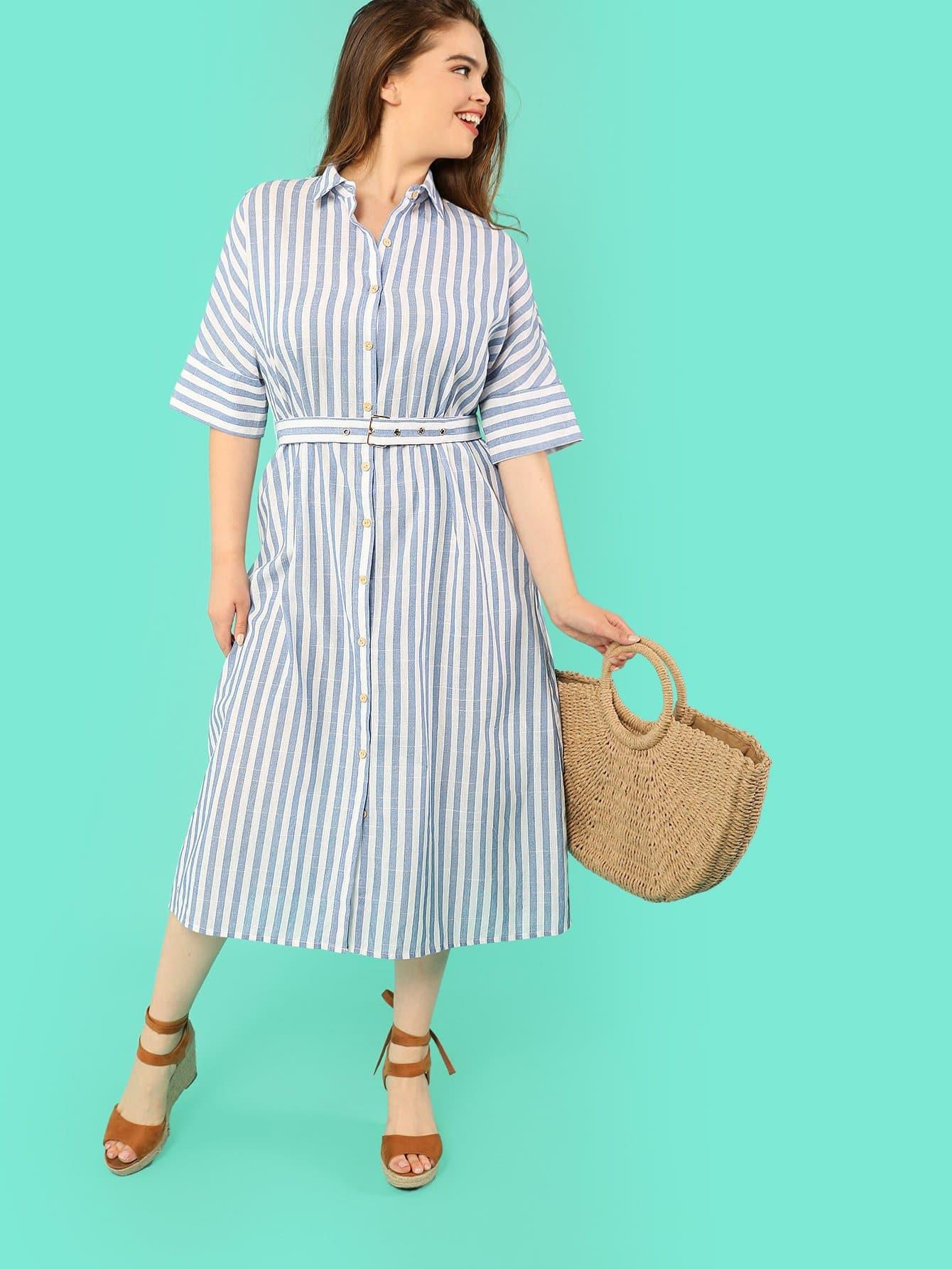 Batwing Sleeve Pinstripe Shirt Dress batwing sleeve pinstripe shirt dress