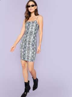 Snakeskin Bodycon Cami Dress
