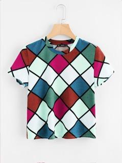 Square Print T-shirt