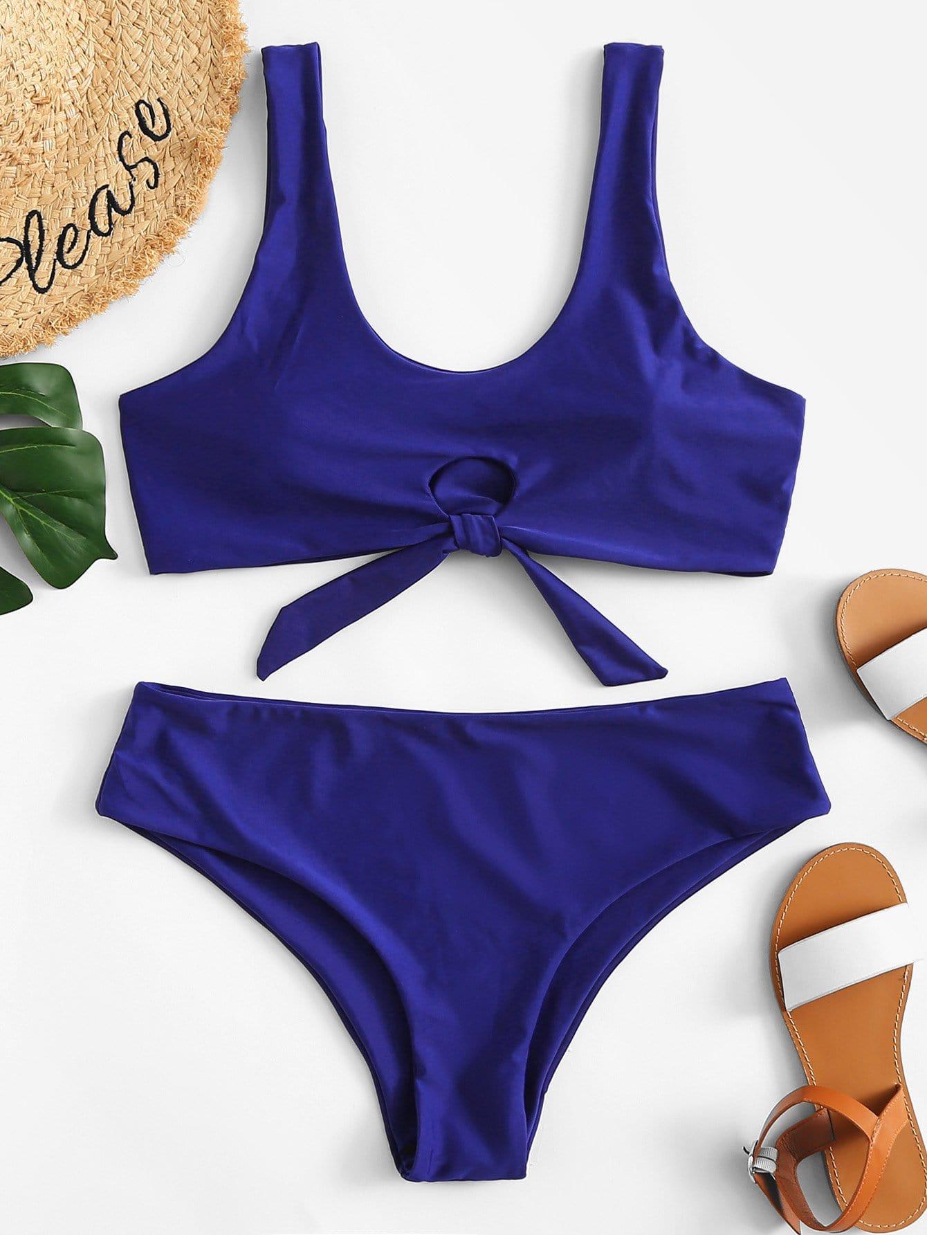 Cut-Out Bikini Set padded cut out bikini set