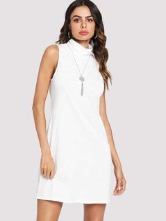 Mock Neck Sleeveless Dress