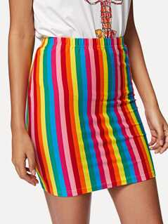 Rainbow Striped Skirt